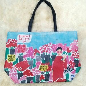 Kate Spade flower market tote, coated canvas